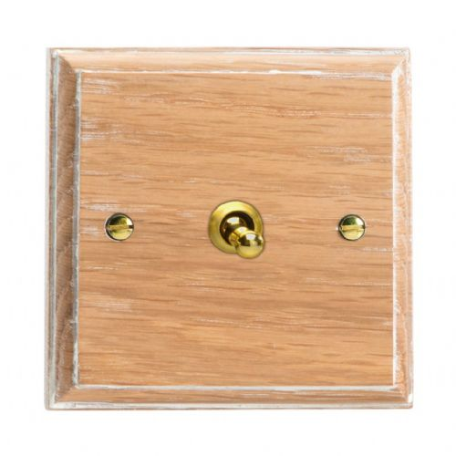 Varilight XKT7LO Kilnwood Limed Oak 1 Gang 10A Intermediate Toggle Light Switch